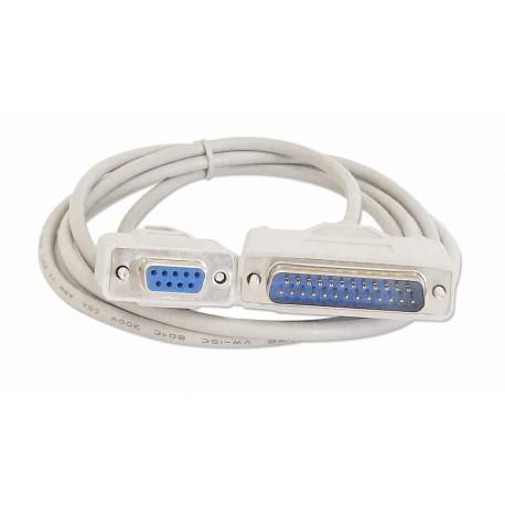 Câble RS232 pour imprimantes, 1,5 m, blanc
