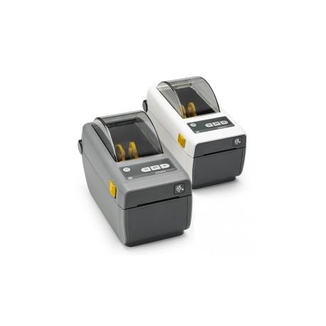 Zebra ZD410, 12 pts/mm (300 dpi), CR, HTR, EPLII, ZPLII, USB, BT (iOS),  WiFi, blanc