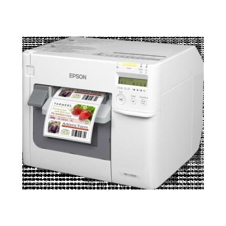 Epson ColorWorks C3500, massicot, écran, USB, Ethernet, NiceLabel, blanc