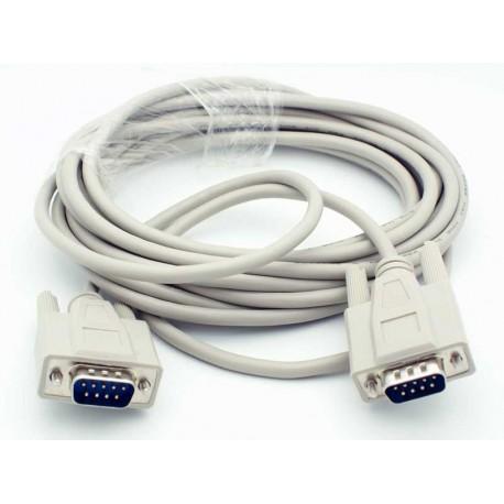 Câble 9 PIN 9 PIN , Femelle Femelle 2m, Blanc