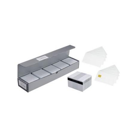Zebra Carte PVC blanche, paquet de 100